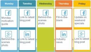 Program postari retele de socializare