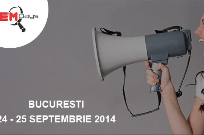 SEM Days 24-25 septembrie 2014