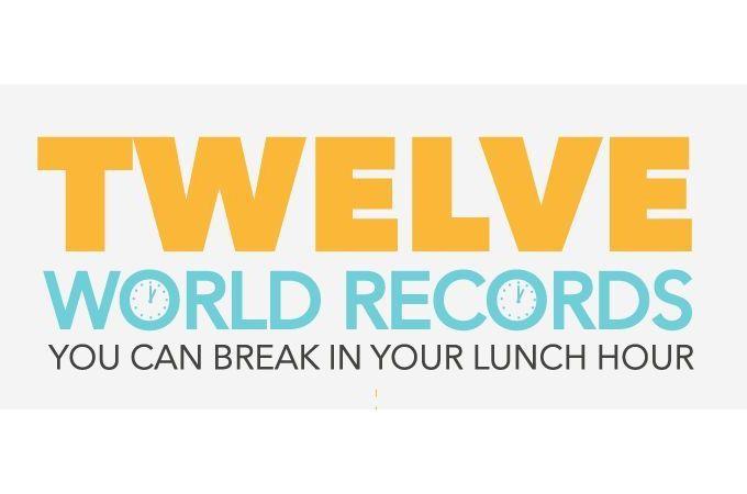 12 recorduri mondiale pe care poti sa le incerci in pauza de masa (Infografic)