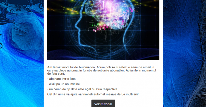 Adaugare poze ca background in email